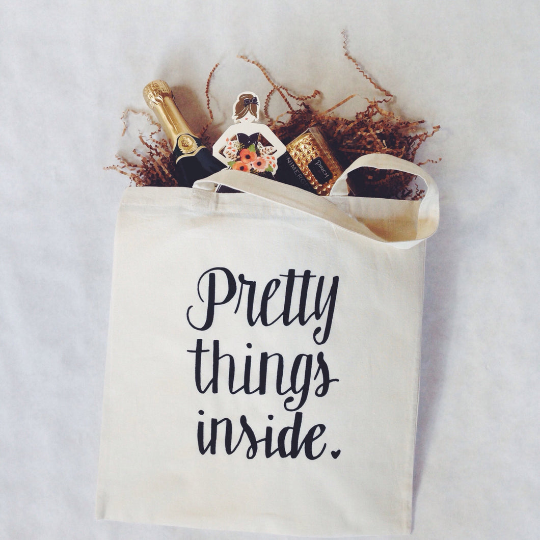 Unique Gift Bag To Put Pretty Things Inside Reusable Tote Bag