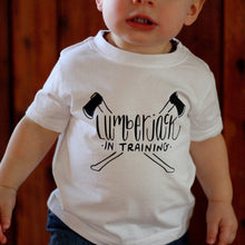 Lumberjack In Training Baby Tee Shirt Camping Forest Axe Woodsman Cabin Life Adventure Boy 1st Birthday 6MO 12MO 18MO 24MO