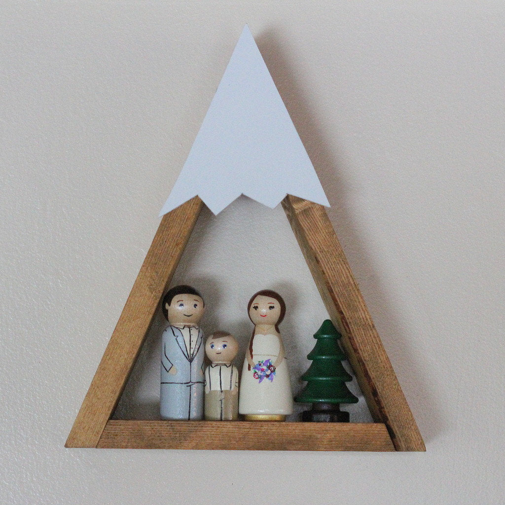 Snow Peak Mountain Shelf Nursery Room Decor Forest Woodland Reclaimed Wood Triangle Geometric