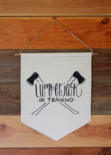 Lumerjack Baby Decor Pennant Flag Mountain Nursery Boys Room Bunting Black & White Forest Nature