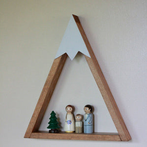 Woodland Nursery, Mountain Shelf, Room Decor, Snow Peak Mountain, Forest, Reclaimed Wood, Triangle, Geometric