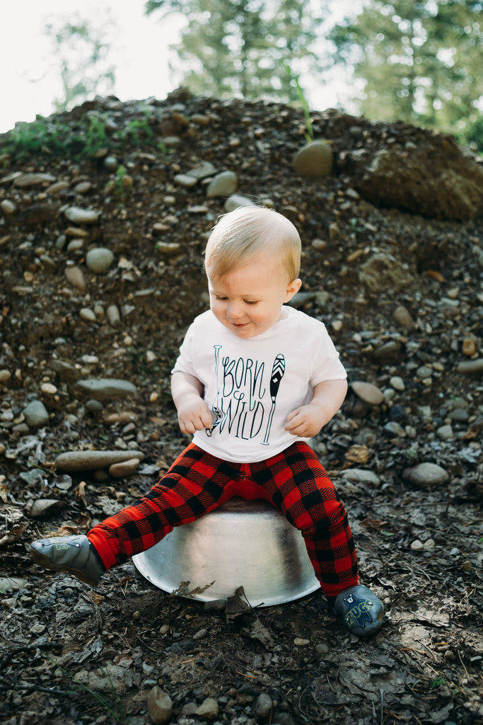 Born Wild Baby Tee Shirt Outdoorsman Nature Paddle Adventure Boy 6MO 12MO 18MO 24MO
