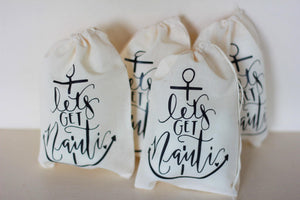 Bachelorette Party Nautical Hangover Kit Beach Resort Anchor Cruise Ship Oh Shit Kit Survival Wedding Drawstring Bag