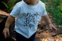 Never Grow Up Boy First Birthay Baby Shirt Adventure Toddler Hiking Camping Little Man Tee Shirt 6MO 12MO 18MO 24MO