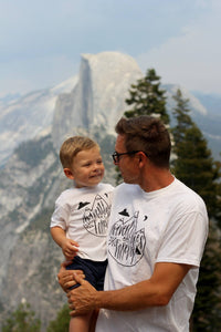 Daddy and Me Tshirt Set Adventure Boy Baby Shirt Mountain Outdoorsman Tee Shirt