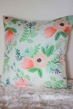 Floral Print Accent Pillow 18 x 18 Watercolor She Shack Babe Cave Girls Room Nursery