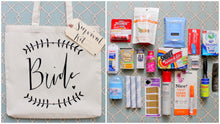 Wedding Day Survival Kit - DIY Bridal Shower Gift 'Something New' for the Bride Tote Gift Bag