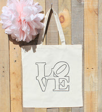 Wedding LOVE Statue Philadelphia Welcome Bag Hotel Favor Tote for Out of Town Guests