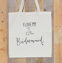 Junior Bridesmaid Bridal Party Wedding Tote Bag Jr. Bridesmaid Gift