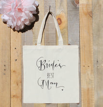 Bride's Best Man Bridesman Wedding Party Gift Tote Bag Guy Gift Bridal Party Bridemsaid Gift