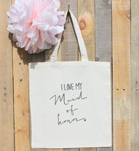Set of 4 Bridesmaid Tote bags and 1 Maid of Honor