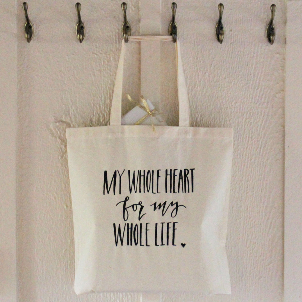 Perfect Anniversary Gift Bag - My Whole Heart For My Whole Life Bridal Bag