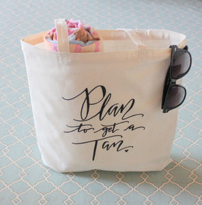 Bachelorette Vacation Beach Bag - Beach Retreat Wedding Welcome Bag Handwritten Tote