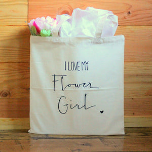 Flower Girl Bridal Party Gift Tote Wedding Party USA Seller