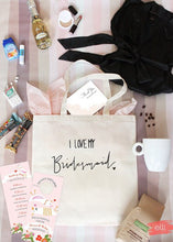 Bridesmaid Gift Tote Bridal Party Bag Wedding Party Thank you Gifts Be My Bridesmaid I Love My Bridemsaid