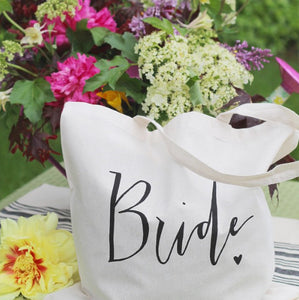 Bride Tote Bag Wedding Bridal Shower Gift Bachelorette Gift Wedding Day Must Have Accessory