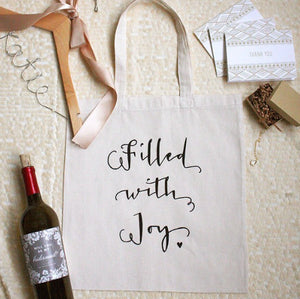 Filled With Joy Wedding Welcome Bag Everyday Tote Bag Baby Shower Gift Bag