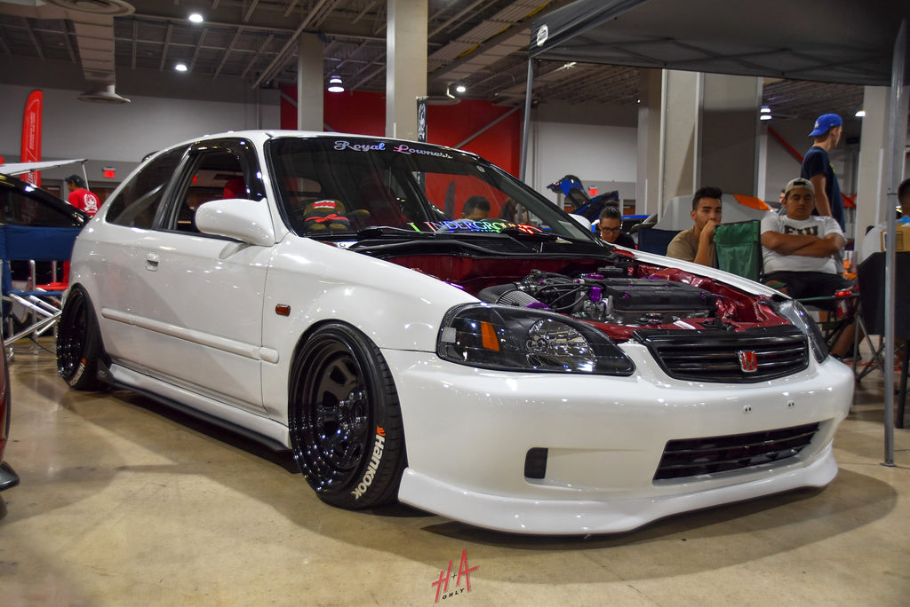 H+A Only | Low n Clean Car Show Honda Civic EK Hatchback B16