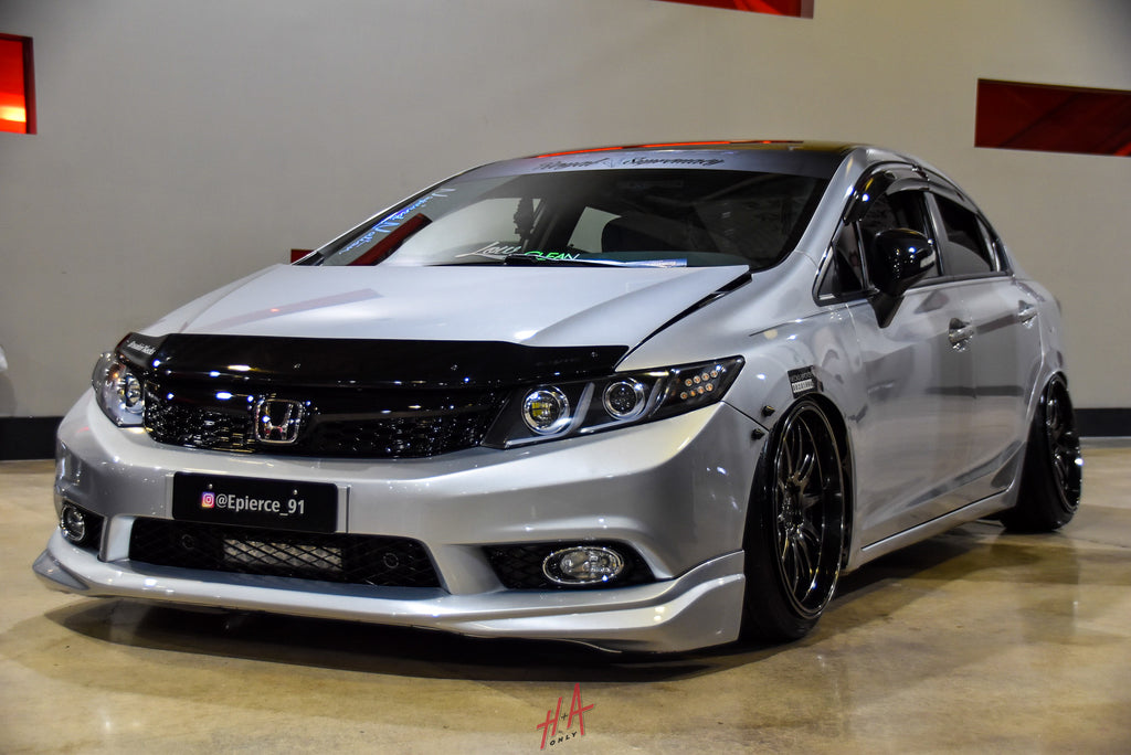 H+A Only | Low n Clean Car Show Honda Civic Sedan FA5 Stance