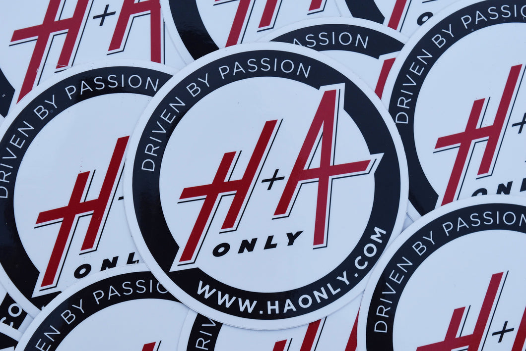H+A Only Slap Sticker - Black