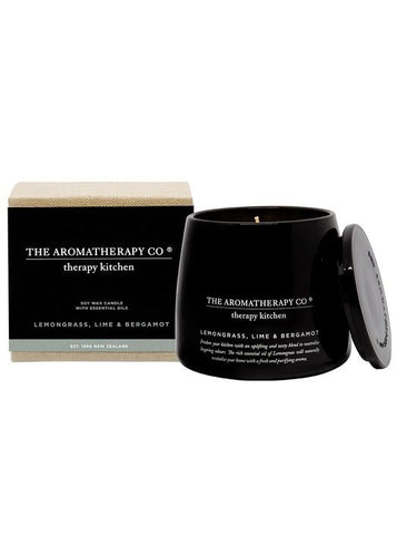 Therapy Kitchen Lemongrass, Lime & Bergamot Candle 260g