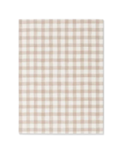 Biscuit Gingham A6 Notebook