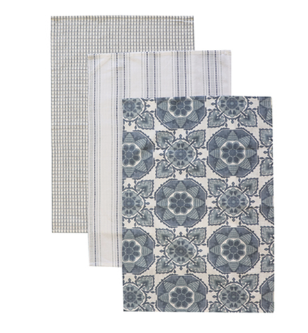 Tile Blue Teatowels