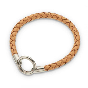 Thick Leather Bracelet Natural