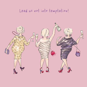 Lead Us Not Into Temptation Greeting Card