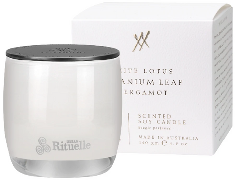 Alchemy White Lotus, Geranium Leaf & Bergamot Candle 140g