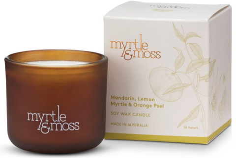 Mandarin, Lemon Myrtle & Orange Peel Mini Candle 16hr