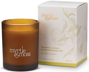 Mandarin, Lemon Myrtle & Orange Peel Candle 50hr