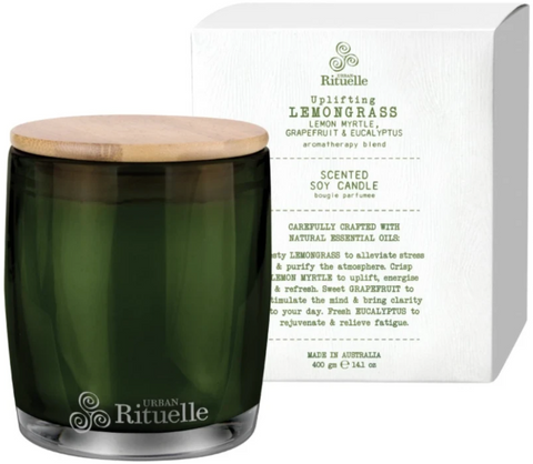 Lemongrass, Lemon Myrtle, Grapefruit & Eucalyptus Candle 400g