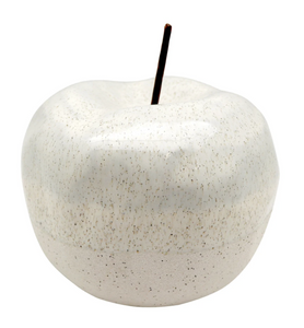 Airlie Apple Ornament White