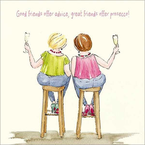 Great Friends Offer Prosecco Greeting Card