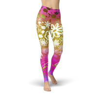 Bohemian Floral Leggings - Cranberry Fashion