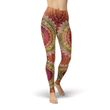 Bohemian Ethnic Style Leggings - Cranberry Fashion