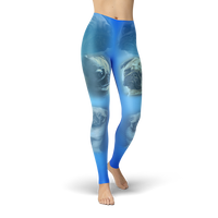 Blue Pug Leggings - Cranberry Fashion