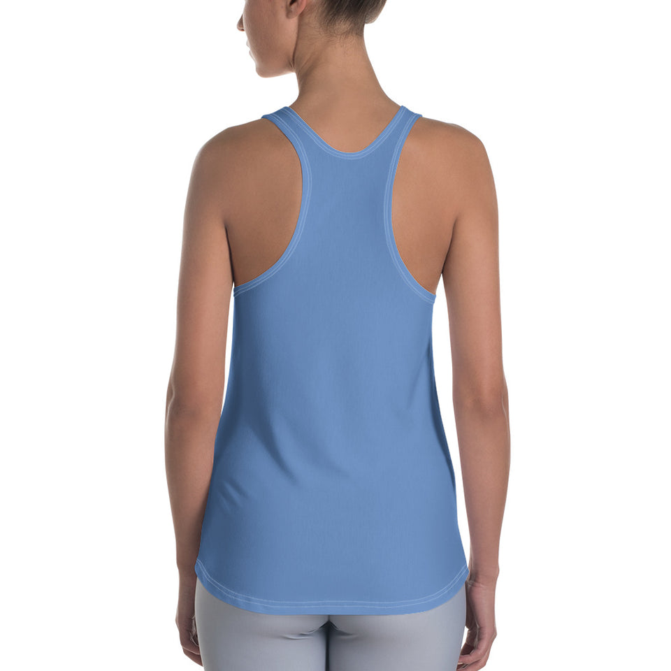 Queens born in April Bluish Racerback Tank Top - Cranberry Fashion