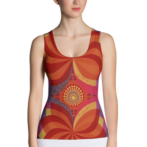 Kaleidoscope Tank Top - Cranberry Fashion