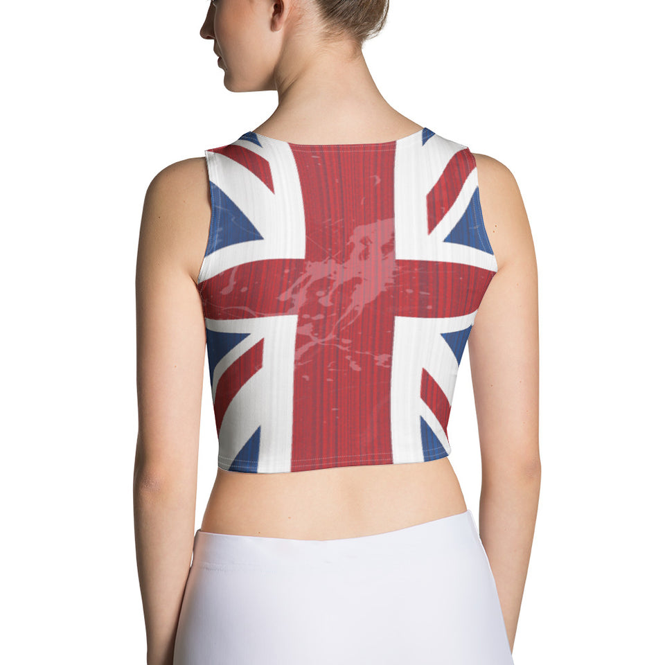 UK Flag Crop Top - Cranberry Fashion