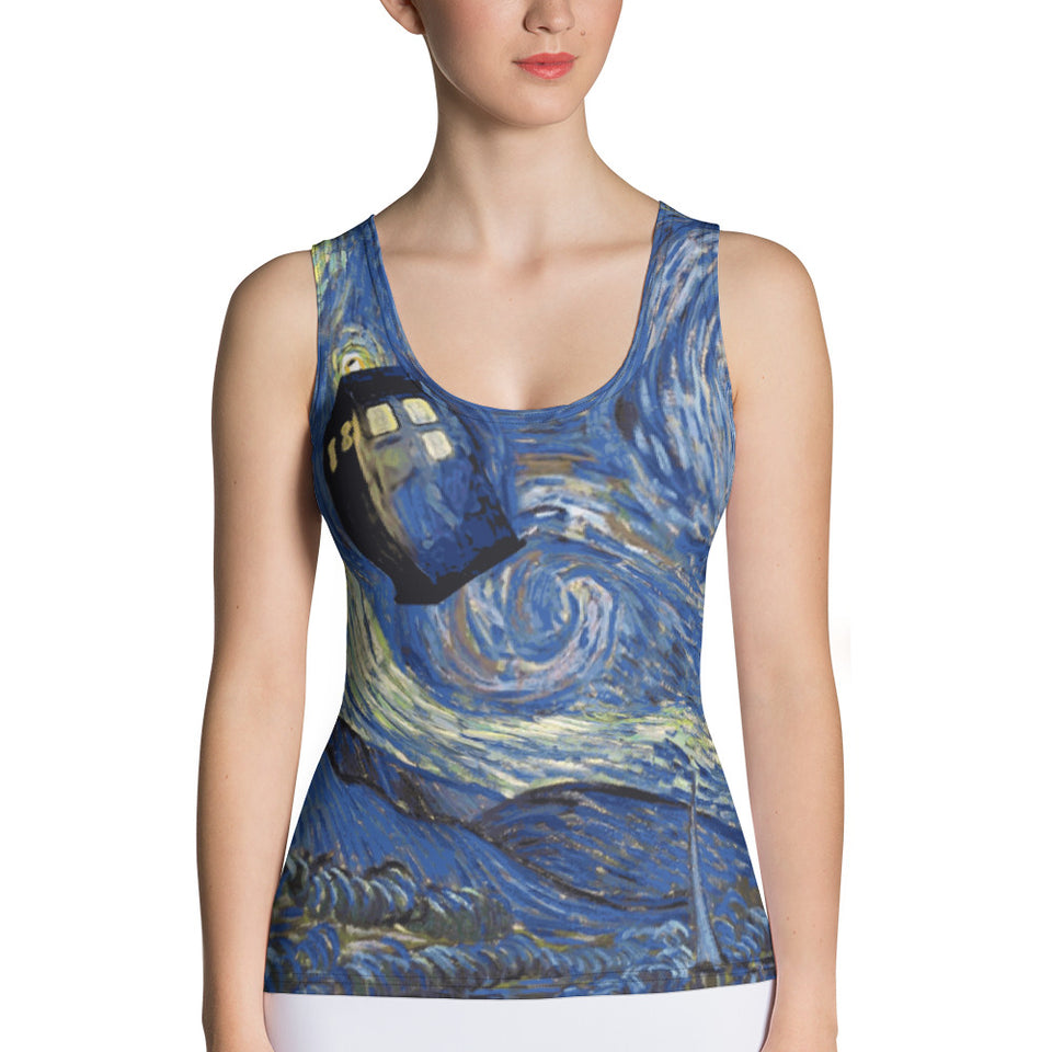 Tardis Tank Top - Cranberry Fashion