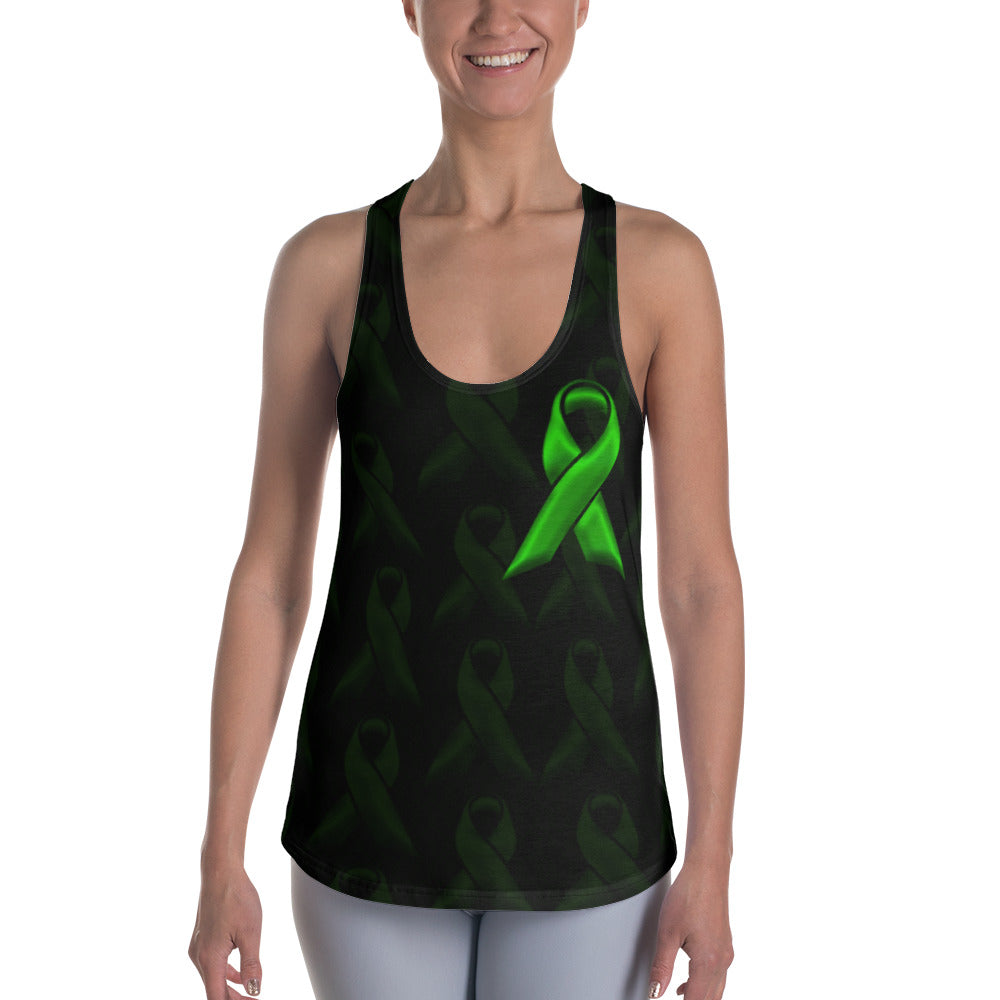 Green Ribbon Racerback Tank - Cranberry Fashion