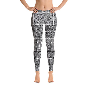Bohemian Reverse BW Leggings - Cranberry Fashion