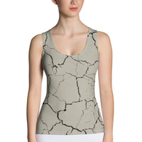 Earth Cracked Tank Top - Cranberry Fashion