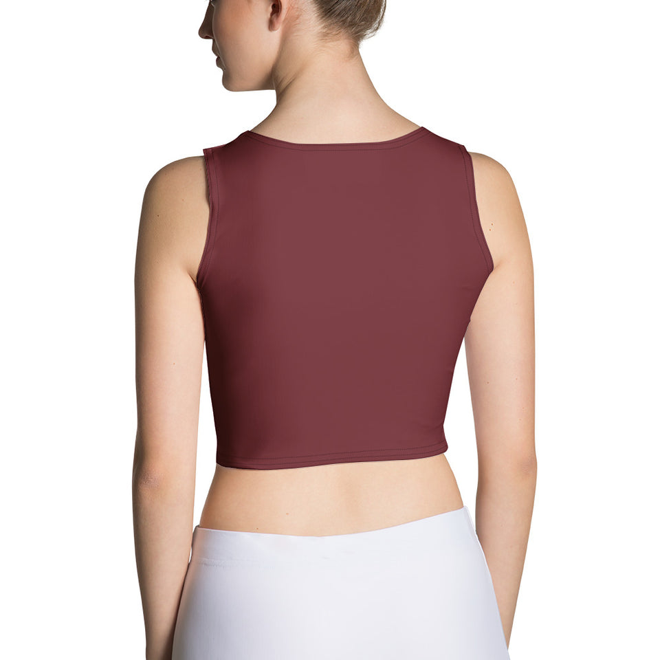 Queens born in April Burgundy Crop Top - Cranberry Fashion