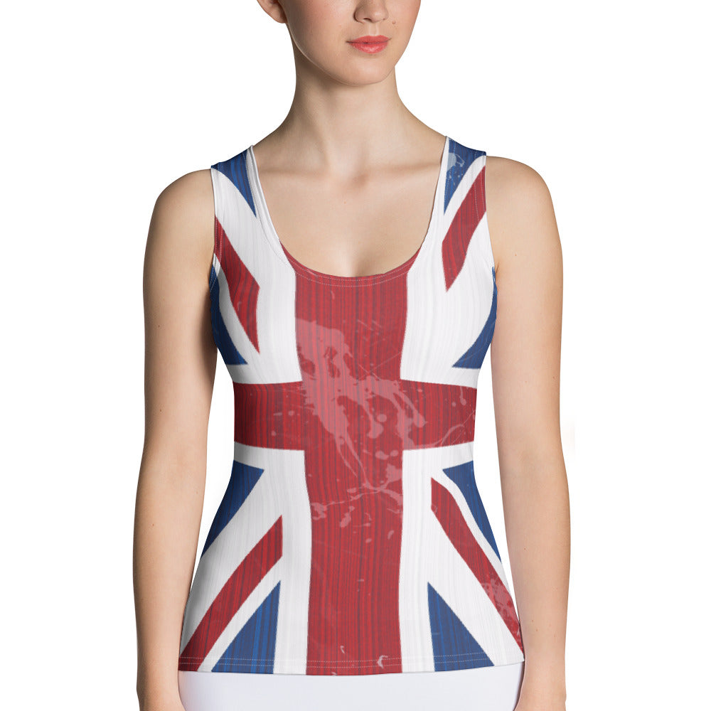 UK Flag Tank Top - Cranberry Fashion