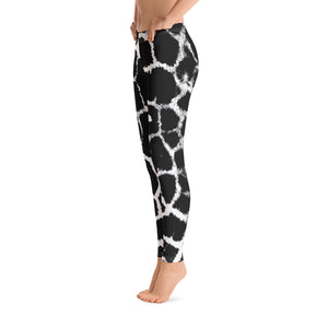 Giraffe BW Reverse Leggings - Cranberry Fashion