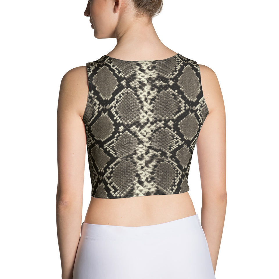 Rattle Snake Crop Top - Cranberry Fashion