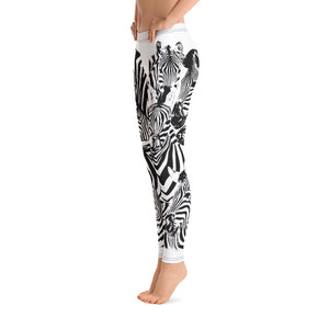 Zebra BW Leggings - Cranberry Fashion